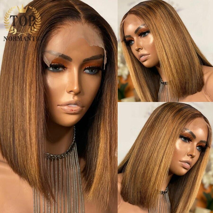 perucas de cabelo humano bob destaque cor