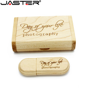 Image 5 - Jaster 1 Pcs Gratis Custom Logo Lasergravure Houten + Box Pendrive 4 Gb 8 Gb 16 Gb 32 Gb 64 Gb Usb Flash Drive Fotografie Gift