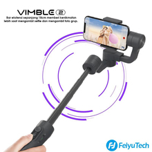 Feiyu vimble 2s vimble2Sスマートフォン3軸ハンドヘルドジンiphone xのgopro sjcam xiaomi huawei社サムスン電話