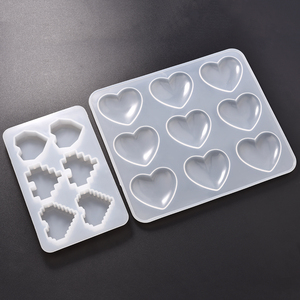 Heart Shape Epoxy UV Resin Mold Pixel Love DIY Handmade Pendant Silicone Molds For Jewelry Making Tools Moulds