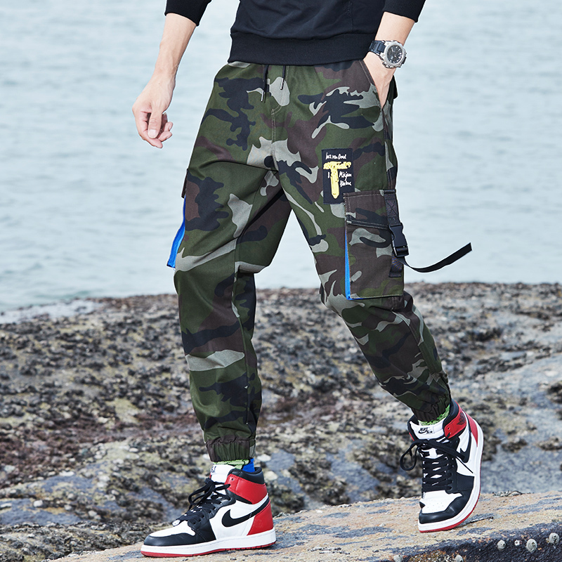 HCXY 2019 Men Camouflage Pants Military Mens Cargo Pants With Many Pockets Camouflage Pants Men Big Size 7XL 8XL