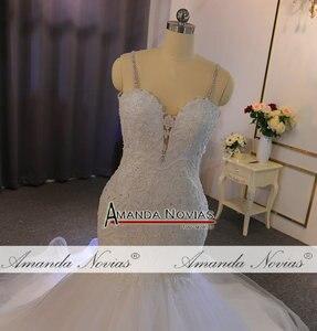 Image 2 - Straps lace mermaid wedding dress with beading custom order for black girl