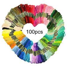 24/36/50/100 штук/упаковка для вышивания из искусственного шёлка 800 см вышивка крестиком DIY искусство плоты нитки мулине швейные нитки Handkitting инструменты швейные нитки