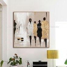 Artyx pintados à mão abstrata pedestre arte pintura a óleo sobre tela pinturas modernas para sala de estar decoração casa arte moderna imagem