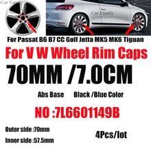 Badge Wheel-Hub-Cap Rim-Emblem Passat Golf Covers Car-Logo 70mm for B6 B7 CC MK5 MK6