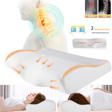 New  Memory Foam Health Cervical Pillow Slow Rebound Home Sleeping Neck Protection Butterfly Shaped