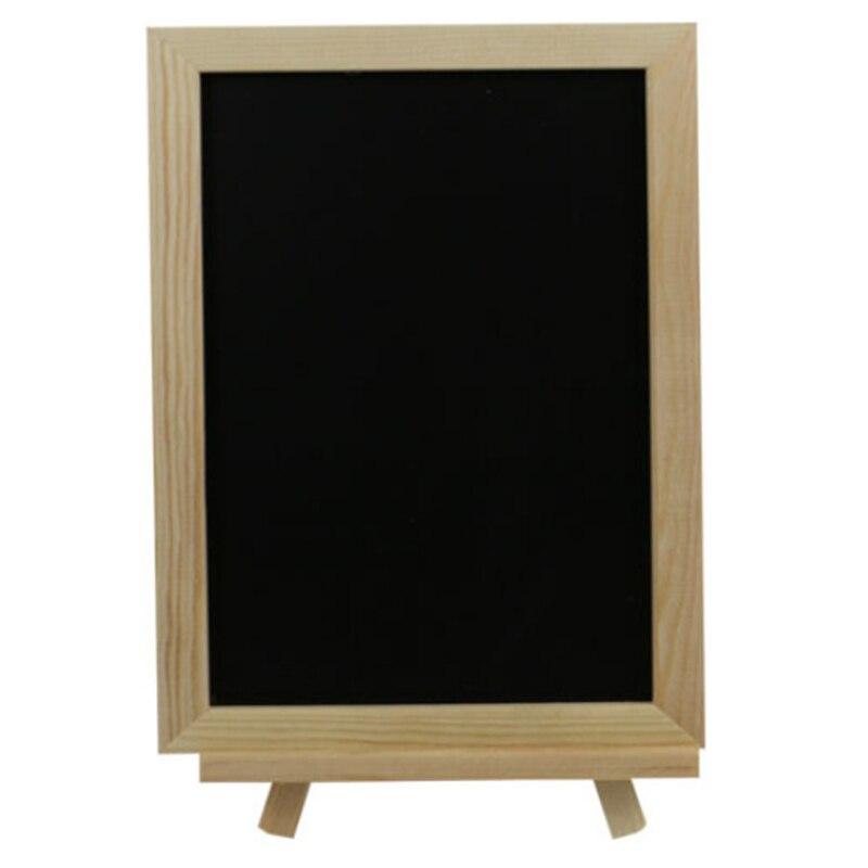 20 X 30 Cm Blackboard, Wooden Easel, Chalkboard, Wedding Chalkboard, Wood Structure, Dry Erase, Message Board, Message Board, Bl