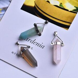 1 шт. натуральное ювелирное изделие, розовый кварцевый кристалл, шестигранный шар, аура, точка чакры, натуральный камень, подвеска, ожерелье, ...