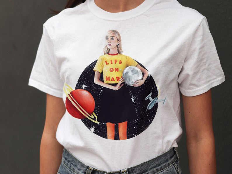 ZSIIBO Female T-shirt Girl Costume Stranger Things Vintage Snake Summer Short sleeve Women Riverdale  Crop Top Women CX6L252