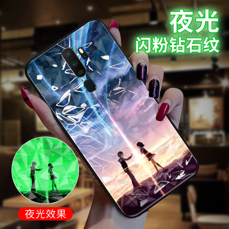 Acrylic Luminous Glow <font><b>Back</b></font> <font><b>Cover</b></font> Case For <font><b>OPPO</b></font> A3 A5 A7 A5S A9 A11X <font><b>A57</b></font> A59 A83 K1 K3 K5 R9 R11 R11S Plus R15 R17 Pro A9 2020 image