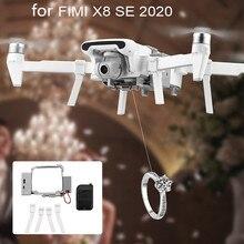 Airdrop sistema de liberação da gota de ar dispositivo entrega com trem de pouso isca peixe publicidade anel lançador para fimi x8 se 2020 drone