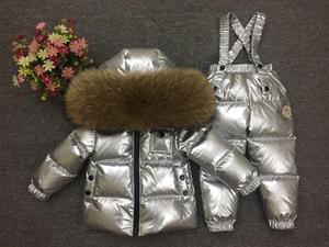 Image 4 - 2018 Kinderen Skipak Russische Winter Baby Boy Pak Eendendons Kinderen Jas voor Meisje Jas Overalls Warme Jas Kid meisje Set