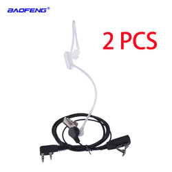 2 pcs Baofeng Walkie Talkie Earphone Air Acoustic Tube Earpiece Baofeng Radio PTT Transparent Headset Microphone K Port UV-5R 82