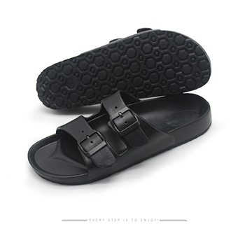 Buckle Men Sandals Summer Outdoor Casual Shoes Male Black Adjustable Slide Slippers Flip Flops Beach Footwear Big Size Sandalias 2020 woman flip flops summer shoes slippers cool beach rivets big bow flat sandals brand jelly shoes sandals girls big size 42