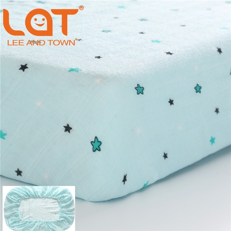 LAT 130cm*70cm Baby Crib Sheets Organic Cotton Fitted Sheets Soft Baby Bed Mattress Covers Printed Newborn Kids Mini Cot Sheet image