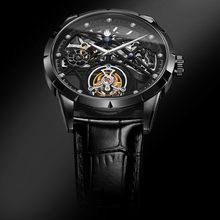 Механические часы aesop с турбийоном мужские тонкие наручные