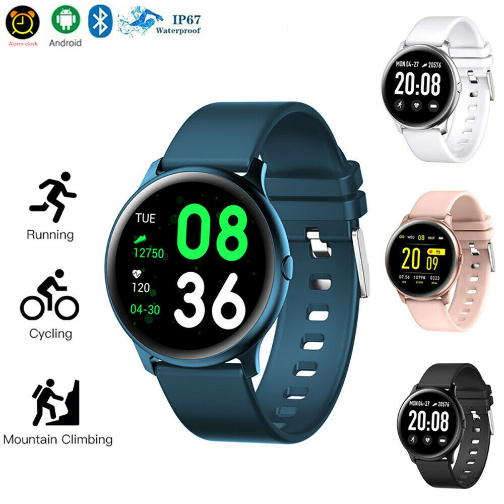 Newest <font><b>KW19</b></font> <font><b>Women</b></font> <font><b>Smart</b></font> <font><b>Watch</b></font> Waterproof Blood Oxygen Heart Rate Monitor Men Sport Smartwatch For IOS And Android image