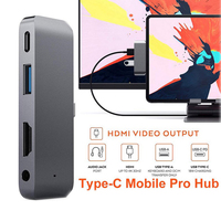 Type C HUB 3 Port Mobile Pro Hub Adapter PD Charging 4K HDMI For Samsung Galaxy Note10+ / for 2019 iPad Pro