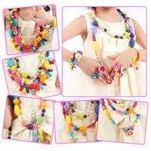 Pop-Arty-Kit de perles, développement Intelligence des enfants, bijoux à bricoler soi-même collier anneau, artisanat, cadeau d'anniversaire, pas besoin de corde