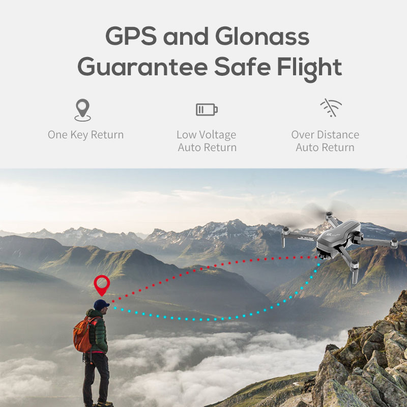 Hipac SG906 Pro 2 Drone 4k GPS with Camera 3 Axis Gimbal Brushless Profissional 800M Wifi 26Min RC Dron 4k GPS Quadrocopter 4