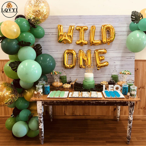 Rose gold silver 16'' Wild One/One Foil Balloon Baby Shower 1st Birthday Party Decoration balloons children ONE Year Old Globos