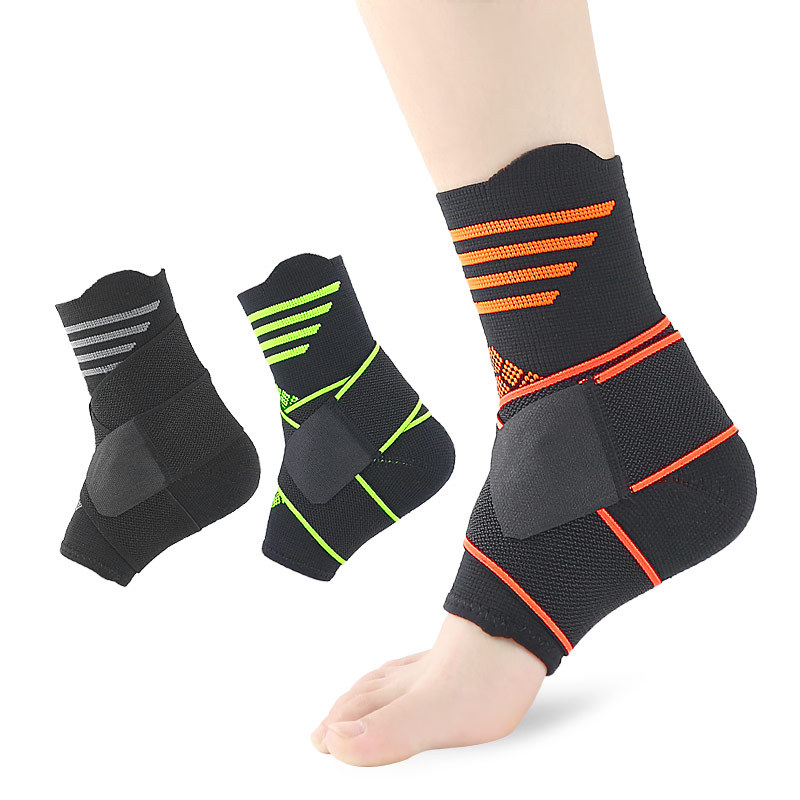 Nylon Ankle Sleeve Men Women Sports Compression Foot Sprained Foot Ligament Bandage Ankles Strap Running Leg Running Sleeves