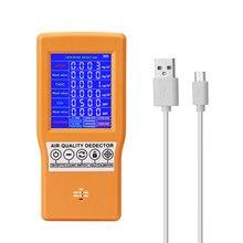 5V USB Air Qualität Detektor Multifunktionale Digital Display Hohe Genauigkeit HCHO TVOC CO2 AQI Air Qualität Analysator Gas Monitor