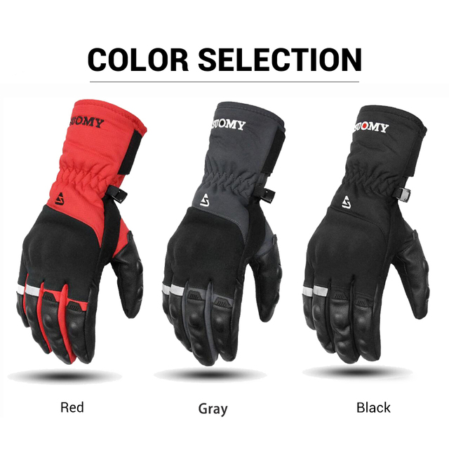 SUOMY Motorcycle Gloves 100% Waterproof Windproof Winter Warm Guantes Moto Touch Screen Motosiklet Eldiveni Protective For Men