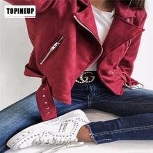 Faux PU Leather Suede Short Jacket  New stylish ladies  Zipper Biker Brown Zipper Outerwear stylish women s satchel with pu leather and zipper design