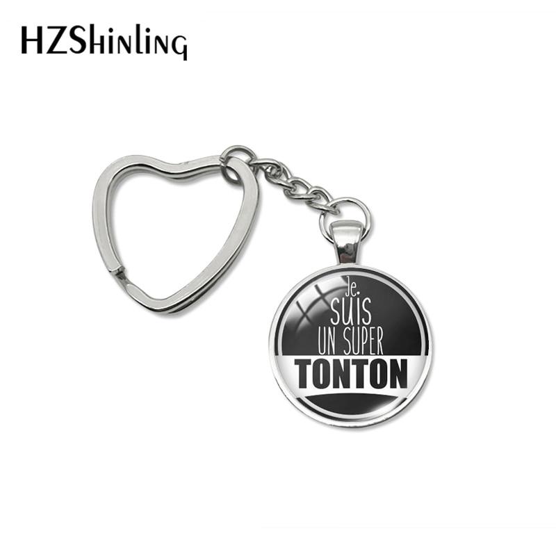 Новинка 2020, модный брелок Super Tonton je suis un Super Tonton, подарок, брелок с надписью «oncle Heart» Super Tonton Forever, ювелирные брелки