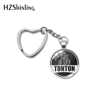 2020 New Fashion Super Tonton je suis un cadeau oncle Heart Keyring Forever Jewelry Keychains - discount item  35% OFF Fashion Jewelry