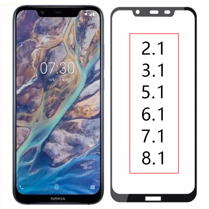 Protective <font><b>Glass</b></font> phone On For <font><b>Nokia</b></font> 2.1 3.1 5.1 <font><b>6.1</b></font> 7.1 8.1 <font><b>Case</b></font> Tempered <font><b>Glass</b></font> Nokia2.1 Full Cover Screen Protector Safety Film image