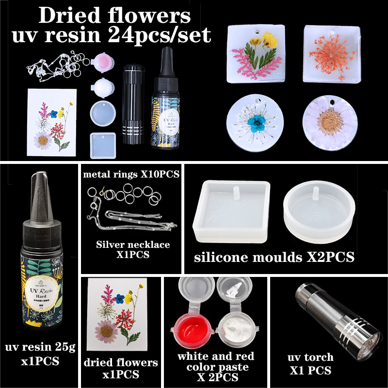 UV Resin Casting Mold Kit Pendant Silicone Mould Making Epoxy Resin Molds For Jewelry DIY Pearls And Jewels