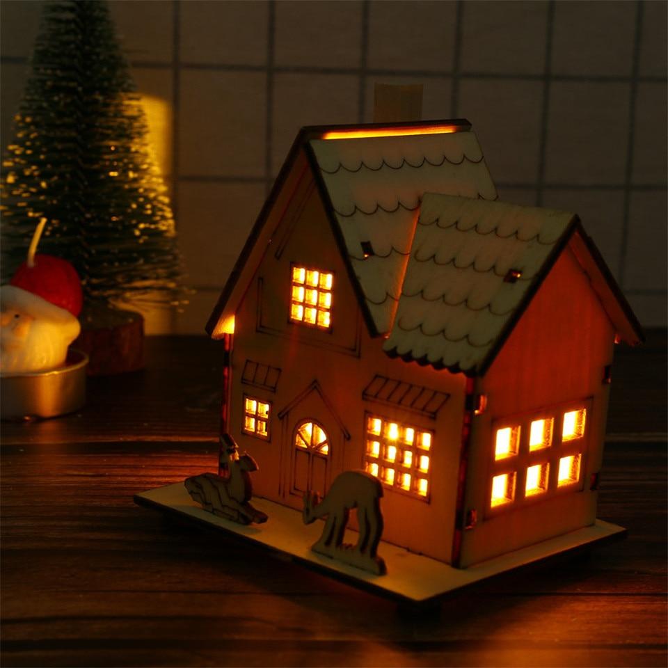 Casa De Muñecas Miniaturas Luces Árbol De Navidad Decoración Campana De Plata Bolas X50