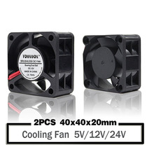 2PCS  YOUNUON 40mm 24V 12V 5V 4020 Mini Computer Case Cooling Fan Ball Bearing Sleeve Bearing 2Pin 4cm 40x40x20mm цена 2017