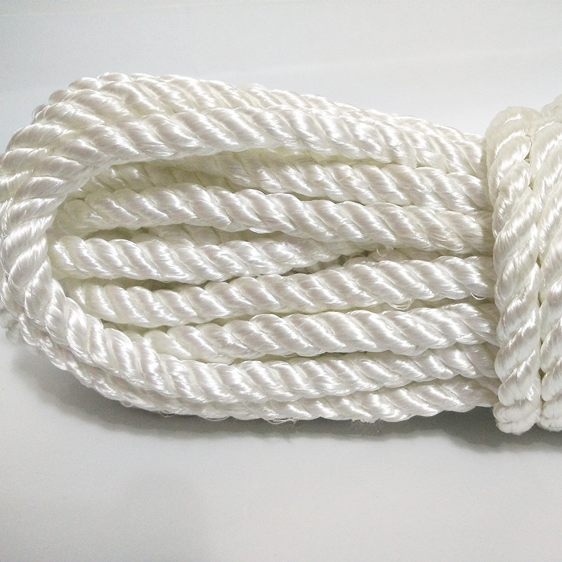 Intensive Polyester Three Stranded Rope White Nylon Clothes Drying Lanyard Bundled Hambroline Greenhouse Cultivation Lanyard