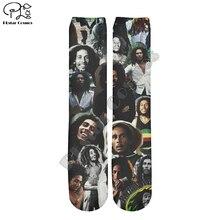 PLstar Cosmos Bob Marley Reggae Hip Hop Unisex new fashion casual 3DPrint Women/men/boy/girl cool Warm Cotton Ankle Socks type-4