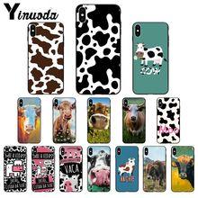 Funda de teléfono de silicona suave Yinuoda patrón de vaca arte TPU para iPhone 6S 6plus 7 7plus 8 8Plus X xs MAX 5 5S XR