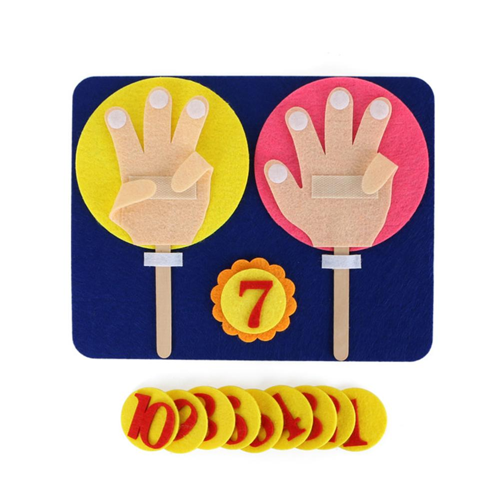 Cute Cloth Finger Counting DIY Math Number Learning Kit Children Educational Toy New