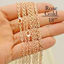 100 - 18 inch Rose Gold Link Chain, Necklace, Cable Inch Chain 45cm