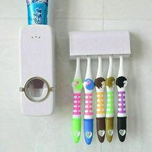 Автоматический Дозатор зубной пасты, держатель для зубной щетки, настенный стеллаж, набор инструментов для ванной комнаты