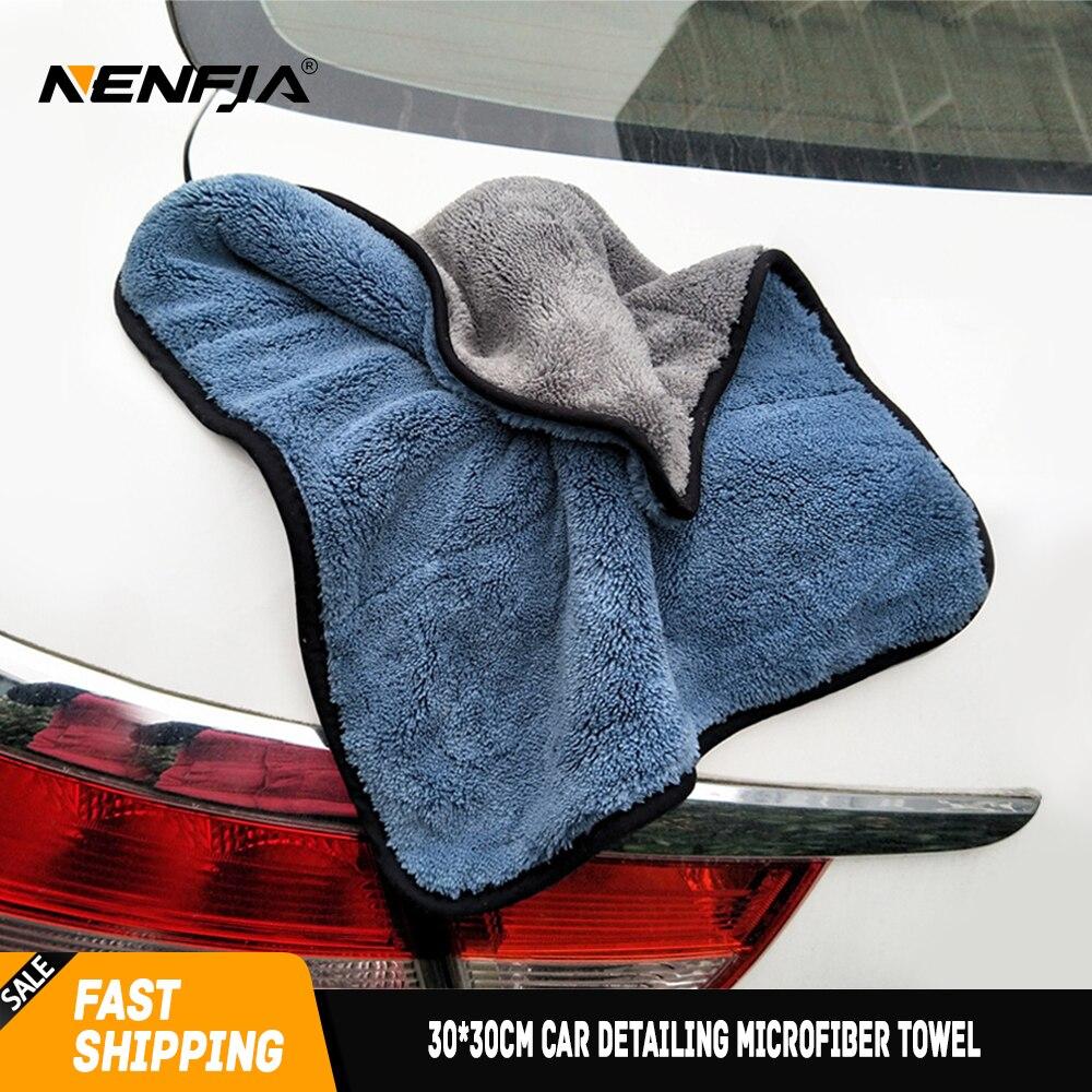 Paño de microfibra detallado de coches de 30x30 cm, paño de secado y limpieza, paño de lavado suave y grueso para el cuidado de la pintura de pulido de cera Mameluco de sudadera con detalle de botón de bebé ebebek BabyZ