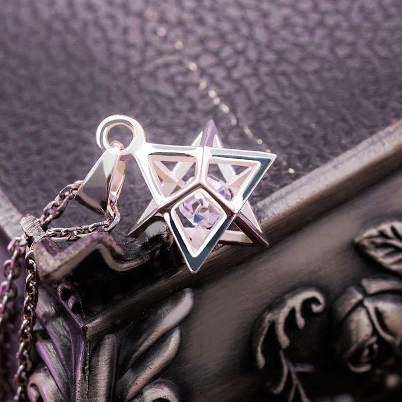 Destin Grand ordre Gudako 925 argent creux pendentif collier mode Cosplay Prop accessoires cadeau