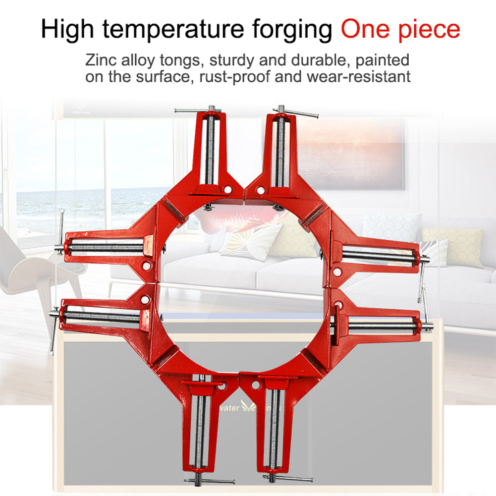 DIY Corner Clamps 90 Degree Right Angle Clamp Quick Fixed Fish Tank Glass Wood Picture Frame Woodwork Corner Clamp