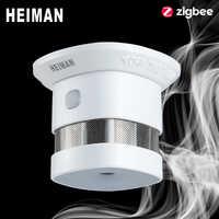HEIMAN Zigbee 3,0 Feuer alarm rauchmelder Smart Home system 2,4 GHz Hohe empfindlichkeit Sicherheit prävention Sensor Kostenloser Versand