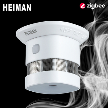 HEIMAN Zigbee 3.0 Fire alarm Smoke detector Smart Home system 2.4GHz High sensitivity Safety prevention Sensor Free Shipping Computer, Office & Security