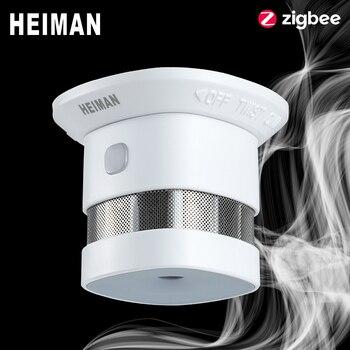 HEIMAN Zigbee 3.0 alarme incendie détecteur de fumée système de maison intelligente 2.4GHz haute sensibilité capteur de prévention de sécurité livraison gratuite
