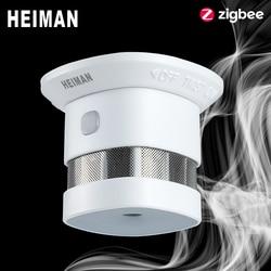 HEIMAN Zigbee 3.0 sistema di allarme Incendio rivelatore di Fumo smart Home, Casa Intelligente 2.4GHz di Alta Sensibilità di sicurezza Prevenzione del sensore Libera Il Trasporto
