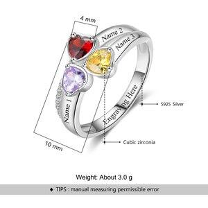 Image 5 - Bague en pierre de naissance personnalisée en argent Sterling 925 pour maman, bijou danniversaire (bijouora RI103260)