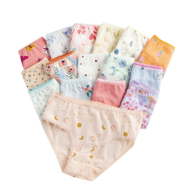 12Pcs/lot  Kids Underwear  Girls Boys  Briefs Panties  Children Underpants  Panties Children Cotton Briefs B1TNN0001